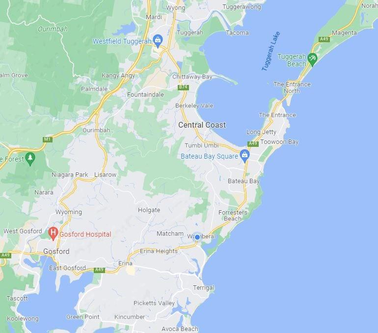 Central Coast location